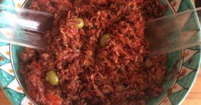 Insalata bimby di riso rosso integrale