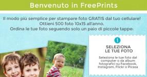 Free Prints l'app per stampare le foto gratis