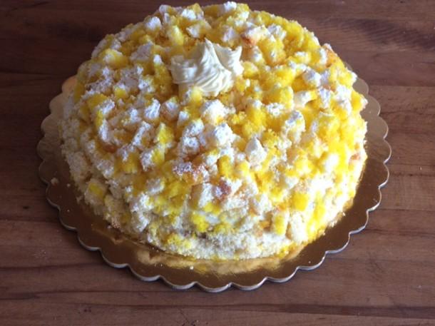torta mimosa bianca