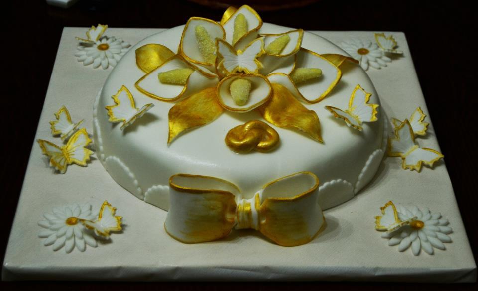 Torta per un anniversario blog family for Decorazioni torte per 60 anni di matrimonio