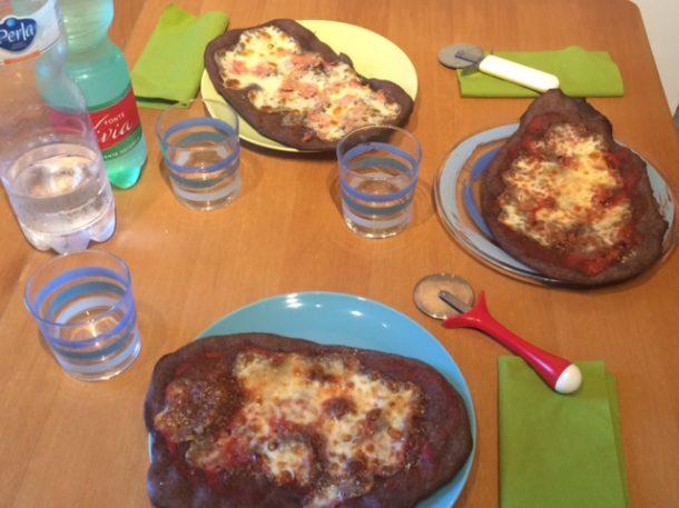 Pizza Bimby con la farina di riso venere