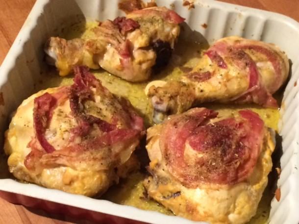 Pollo alla senape al forno