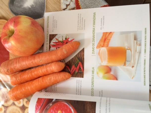 Succo di carote con l'estrattore