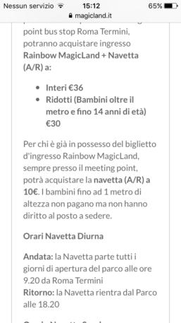 navetta rainbow magicland