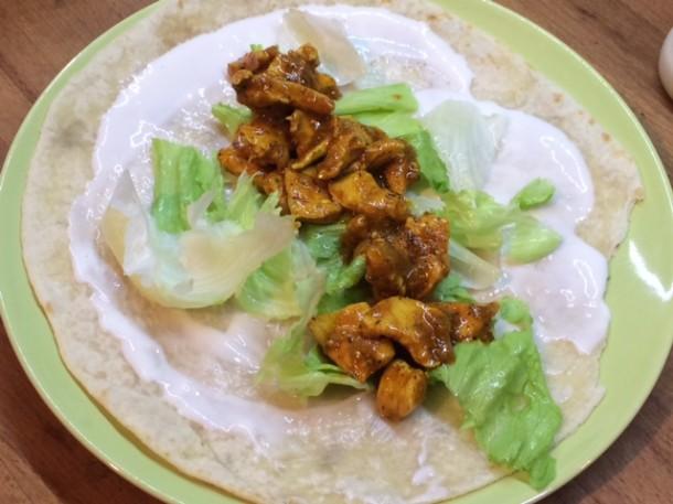 piadina di pollo al curry