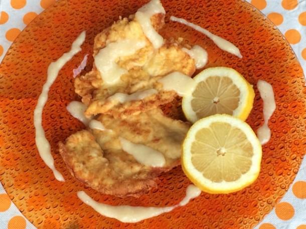 Pollo con la salsa di limone